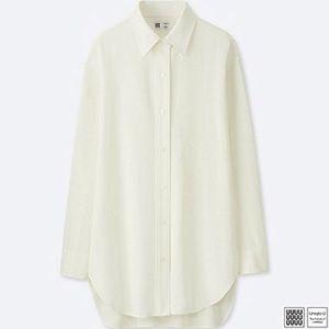 Uniqlo U Drapy Twill Long Sleeve Tunic